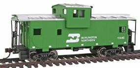 Walthers-Trainline Wide Vision Caboose Ready to Run Burlington Northern Model Train Freight Car HO Scale #1501