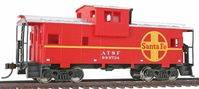 Walthers Trainline Wide Vision Caboose R2R Atchison, Topeka & Santa Fe -- Model Train Freight Car -- HO Scale -- #1503