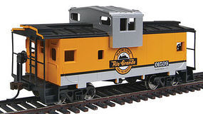 Walthers-Trainline Wide Vision Caboose Denver & Rio Grande Western Model Train Freight Car HO Scale #1529
