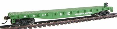 Walthers Trainline 50' Flatcar Burlington Northern -- Model Train Freight Car -- HO Scale -- #1601