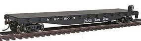 Walthers-Trainline Flatcar Ready to Run Nickel Plate Road #1907 Black Model Train Freight Car HO Scale #1607