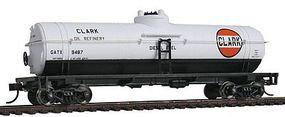 Walthers-Trainline 40 Tank Car Ready to Run Clark Oil GATX #9487 Model Train Freight Car HO Scale #1616