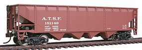 Walthers-Trainline 40 Offset Quad Hopper Ready to Run Santa Fe Model Train Freight Car HO Scale #1651