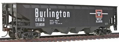 Walthers Trainline 40' Offset Quad Hopper Chicago, Burlington & Quincy -- Model Train Freight Car -- HO Scale -- #1652