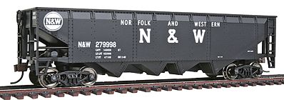 Walthers Trainline 40' Offset Quad R2R Hopper Norfolk & Western -- Model Train Freight Car -- HO Scale -- #1655