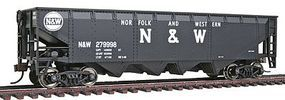 Walthers-Trainline 40 Offset Quad R2R Hopper Norfolk & Western Model Train Freight Car HO Scale #1655