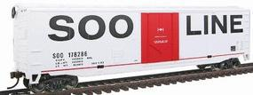 Walthers-Trainline 50' Plug Door Boxcar Ready to Run Soo Line Model Train Freight Car HO Scale #1671