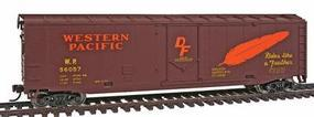 Walthers-Trainline 50 Plug Door Boxcar Ready to Run Western Pacific Model Train Freight Car HO Scale #1675