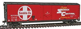 Walthers-Trainline 50 Plug Door Boxcar Ready to Run Santa Fe Model Train Freight Car HO Scale #1676