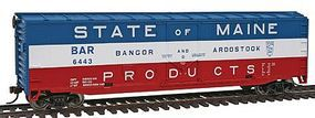 Walthers-Trainline 50 Plug Door Boxcar Ready to Run Bangor & Aroostook Model Train Freight Car HO Scale #1677