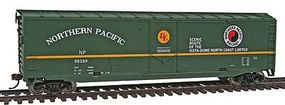 Walthers-Trainline 50 Plug Door Boxcar Ready to Run Northern Pacific Model Train Freight Car HO Scale #1679