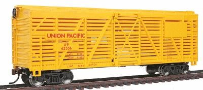 Walthers Trainline 40' Stock Car Ready to Run Union Pacific(R) -- Model Train Freight Car -- HO Scale -- #1680