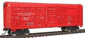 Walthers-Trainline 40 Stock Car Ready to Run Swift Model Train Freight Car HO Scale #1684