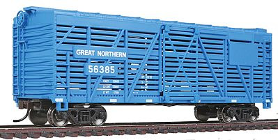Walthers Trainline 40' Stock Car Ready to Run Great Northern -- Model Train Freight Car -- HO Scale -- #1686