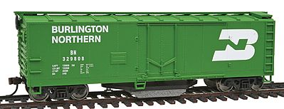 Walthers Trainline Plug Door Track Cleaning Boxcar Burlington Northern -- Model Train Freight Car -- HO Scale -- #1753