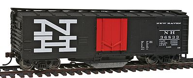 Walthers-Trainline 40 Plug Door Track Cleaning Boxcar New Haven Model Train Freight Car HO Scale #1755