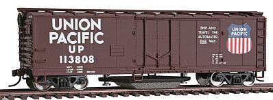 Walthers Trainline 40' Plug Door Track Cleaning Boxcar Union Pacific(R) -- Model Train Freight Car -- HO Scale -- #1756