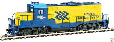 Walthers-Trainline EMD GP9M - Standard DC Ontario Northland #1600 (yellow, blue, Chevrons Logo)