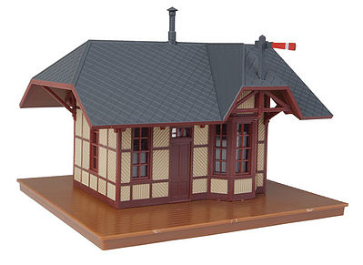 Walthers-Trainline Victoria Springs Station Assembled Model Railroad Building HO Scale #811