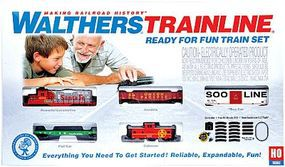 Walthers-Trainline Ready for Fun Train Set Santa Fe Model Train Set HO Scale #870