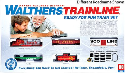 Walthers-Trainline Ready For Fun Train Set CSX Model Train Set HO Scale #871