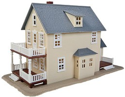 Walthers-Trainline Two-Story House Kit Model Railroad Building HO Scale #901