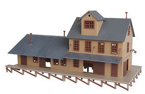 Walthers-Trainline Iron Ridge Freight Station Kit Model Railroad Building HO Scale #905