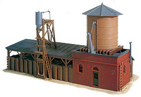 Walthers-Trainline Sand and Water Facility Kit Model Railroad Building HO Scale #907
