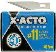 X-acto Stainless Steel #11 Knife Blades Bulk Pack