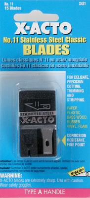 X-acto #11 Stainless Steel Dispenser (15)