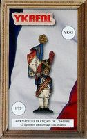 Ykreol French Empire Grenadiers (42) Plastic Model Military Figure 1/72 Scale #2