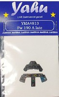 Yahu Fw190A Late Instrument Panel for HSG, EDU Plastic Model Aircraft Accessory 1/48 #4813
