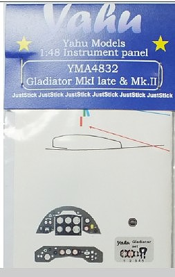 Yahu Gladiator Mk I Late/Mk II Instrument Panel Plastic Model Aircraft Accessory 1/48 #4832