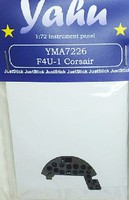 Yahu F4U1 Corsair Instrument Panel for RVL Plastic Model Aircraft Accessory 1/72 Scale #7226