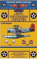 Yellow-Wings USN Curtiss SOC3 Seagull Plane Sq. Plastic Model Aircraft Decal 1/48 Scale #48046