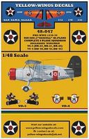Yellow-Wings USN Curtiss SOC3 Seagull Plane Sq. Plastic Model Aircraft Decal 1/48 Scale #48047