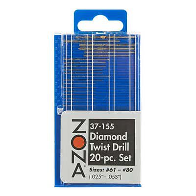 Zona Tool Co. MINI DIAMOND DRILL SET 20pc