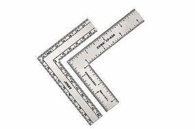 Zona 3'' x 4'' Stainless Steel L-Square Ruler (.022 Thick)