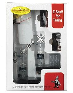 Z-Stuff for Trains Wig Wag Signal Set -- O Scale Model Railroad Trackside Accessory -- #1030s