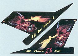 Zotz F16A MLU, FA61/F16AM Ill Be Back 50 Years Plastic Model Aircraft Decal 1/32 #32002
