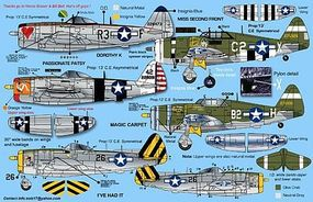 Zotz P47 Thunderbolt Decals Plastic Model Aircraft Decal 1/32 #32039