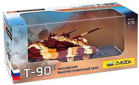 Zvezda Russian Main Battle Tank T-90S Plastic Model Military Vehicle 1/72 Scale #2500