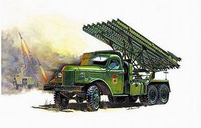 Zvezda WWII Soviet Rocket Launcher BM13 Katyusha Plastic Model Military Truck Kit 1/35 Scale #3521