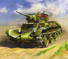 Zvezda BT7 Soviet Light Tank (Re-Issue) Plastic Model Military Vehicle Kit 1/35 Scale #3545