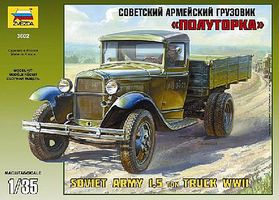 Zvezda WWII Soviet Light Truck GAZ-AA 1/35 Scale Plastic Model Military Vehicle #3602