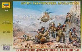 Zvezda Soviet Paratroops Afghanistan (6) Plastic Model Military Figure 1/35 Scale #3619