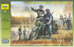 Zvezda WWII German R12 Motorcycle w/Rider & Officer Plastic Model Motorcycle Kit 1/35 Scale #3632