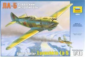 Zvezda WWII La5 Soviet Fighter Plastic Model Airplane Kit 1/48 Scale #4803