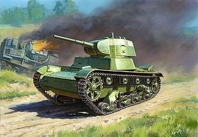 Zvezda Soviet T26M Light Tank (Snap) Plastic Model Tank Kit 1/100 Scale #6113