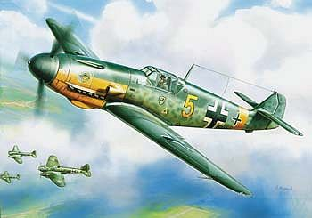 Zvezda Messerschmitt BF-109 F-2 -- Plastic Model Airplane Kit -- 1/144 Scale -- #6116